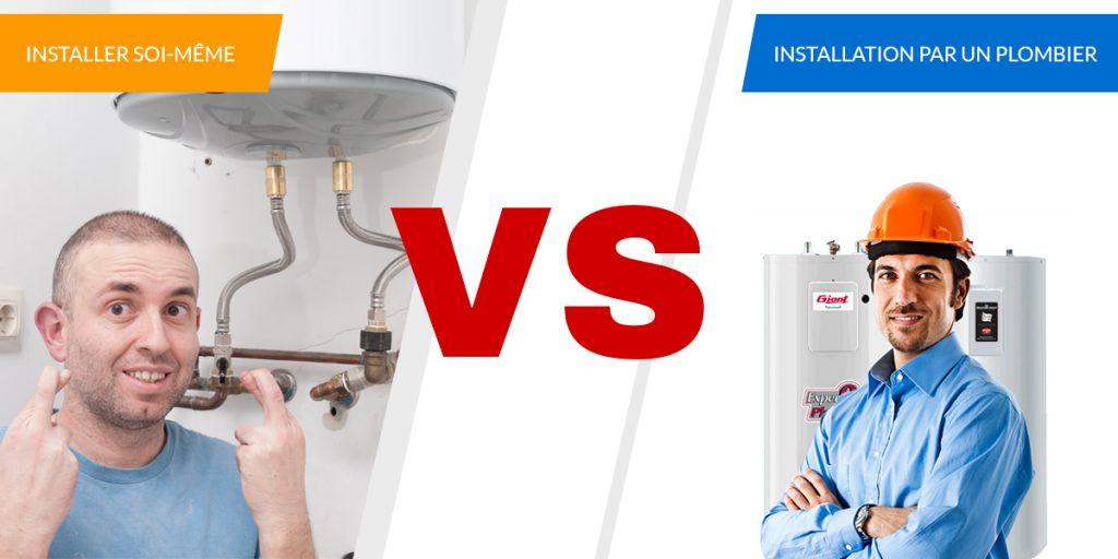 installation chauffe-eau plombier ou soi-meme
